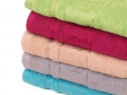 Bambusové ručníky a osušky Asie-Bambusový ručník Asie vínový 50x100 cm