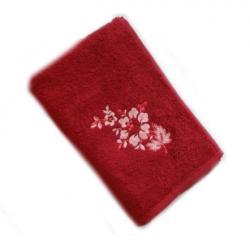Bambusový ručník a osuška Paloma 500 g/m2-Bambusový ručník Paloma 50x100 cm bordó