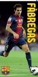 Bavlnená osuška DADKA FC Barcelona - Fábregas 75x150 cm