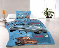 Bavlnené obliečky - Cars II. - 140x200 + 70x90
