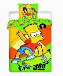 Bavlnené obliečky-Simpson-Bart skate