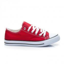 Bezchybné červené módne tenisky