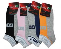 Členkové ponožky Novia 122N Golf šedo-farebné - 2 +1 ZADARMO