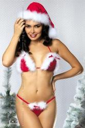 Dámksý Vianočný kostým Obsessive Santa 's Helper set