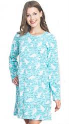 Dámska azúrová nočná košeľa Vienetta Secret Ľadové medvede