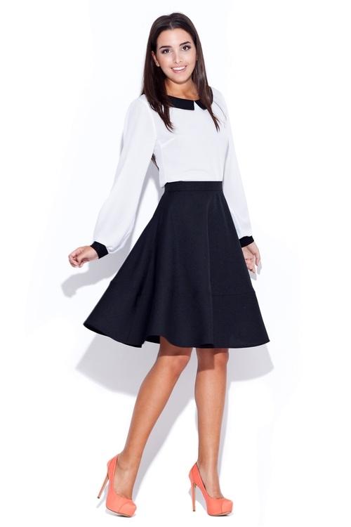 f5e652827752 Dámska čierna sukňa Katrus K055 - Katrus (Akcie a zľavy)