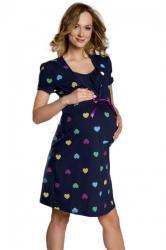 Dámska dojčiace a tehotenská košieľka Italian Fashion Alla blue