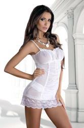Dámska erotická košieľka De Lafense 896 Nev Casandra white