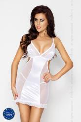 Dámska erotická košieľka Passion Wilma chemise biela