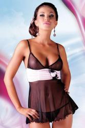 Dámska erotická košieľka Softline collection Fiore black