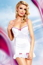 Dámska erotická košieľka Softline Collection Lizzy white