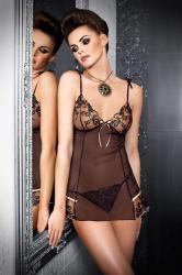Dámska erotická košieľka Tessoro Black iris 226