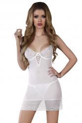 Dámska erotická košilka LivCo Florizel bílá