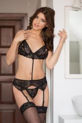 Dámska erotická súprava Softline collection Eliza čierna