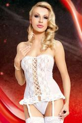 Dámska erotická súprava Softline Collection Valerie white