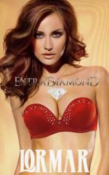 Dámska korzetové push - up podprsenka Lormar Extra Diamond Vianoce