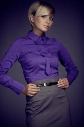 Dámska košeľa Figl M001 dark violet