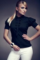 Dámska košeľa Figl M008 black