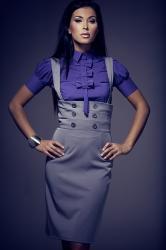 Dámska košeľa Figl M008 dark violet
