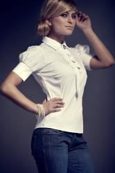 Dámska košeľa Figl M008 white