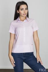 Dámska košeľa Figl M548 ružová