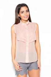 Dámska košeľa Katrus K378 ružová