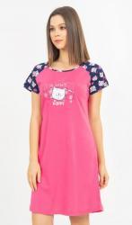 Dámska košeľa s krátkym rukávom Vienetta Secret Kočky