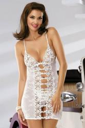 Dámska košieľka Obsessive Bride chemise white