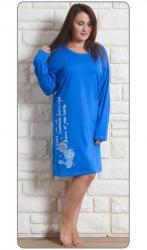 Dámska nadmerná nočná košeľa Vienetta Secret Angela modrá