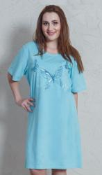 Dámska nadmerná nočná košeľa Vienetta Secret Motýle