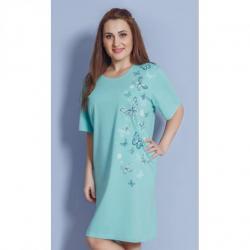 Dámska nadmerná nočná košeľa Vienetta Secret Motýliky mentol