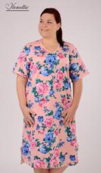 Dámska nadmerná nočná košeľa Vienetta Secret Róza