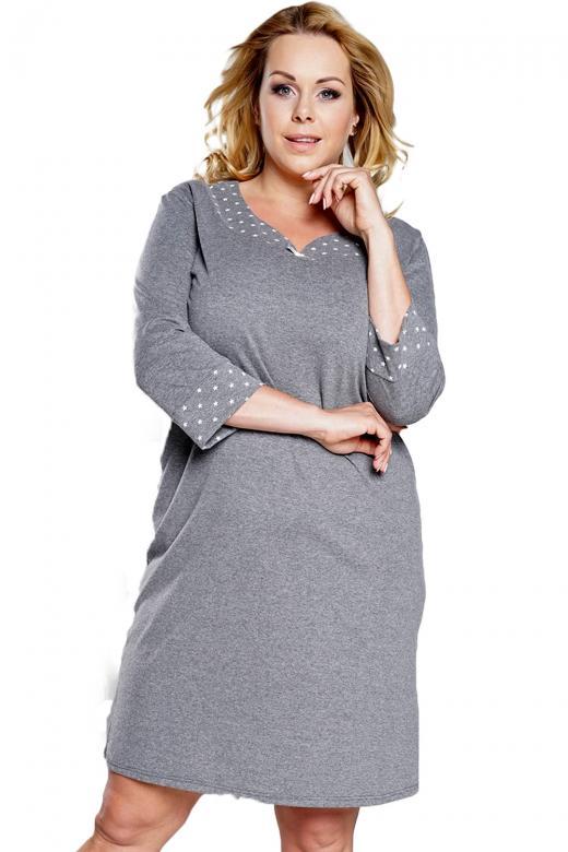 3e17de5ad18a Dámska nočná košeľa Italian Fashion Damia plus sivá - Italian ...