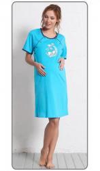 Dámska nočná košeľa materská Vienetta Secret Šteňa na mesiaci