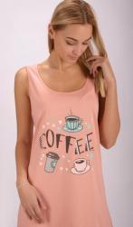 Dámska nočná košeľa na ramienka Vienetta Secret Coffee