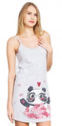 Dámska nočná košeľa na ramienka Vienetta Secret Panda