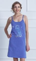 Dámska nočná košeľa na ramienka Vienetta Secret Sova Pálená