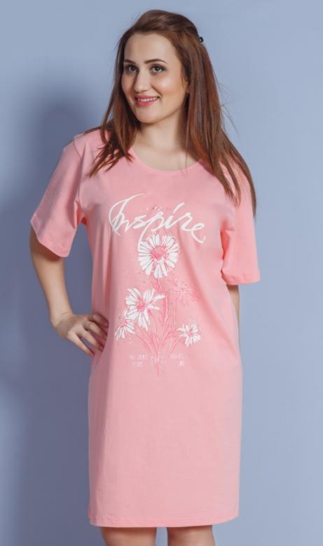 c794b6f05573 Dámska nočná košeľa s krátkym rukávom Kamilka - Vienetta Secret ...