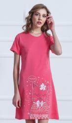 Dámska nočná košeľa s krátkym rukávom Ko ka Parádnice