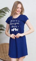 Dámska nočná košeľa s krátkym rukávom Vienetta Secret Dog
