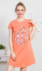 Dámska nočná košeľa s krátkym rukávom Vienetta Secret Jednorožci