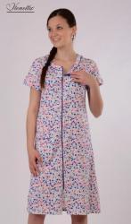 Dámska nočná košeľa s krátkym rukávom Vienetta Secret Little stars
