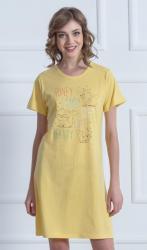 Dámska nočná košeľa s krátkym rukávom Vienetta Secret Mačiatka