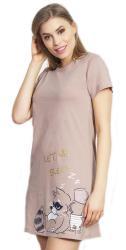Dámska nočná košeľa s krátkym rukávom Vienetta Secret Mýval