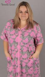 Dámska nočná košeľa s krátkym rukávom Vienetta Secret nadmer Veľká srdce