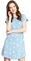 Dámska nočná košeľa s krátkym rukávom Vienetta Secret Pes Alík