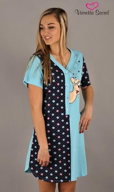 bb3e20eadb8f Otázky k produktu Dámska nočná košeľa s krátkym rukávom Vienetta ...