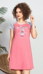 Dámska nočná košeľa s krátkym rukávom Vienetta Secret Sunday