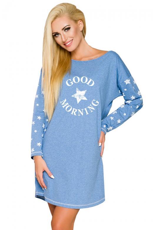 587cd9315eb9 Dámska nočná košeľa Taro Nadia 2111 modrá - TARO (Dámske nočné ...