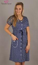 Dámska nočná košeľa Vienetta Secret Barbora modrá